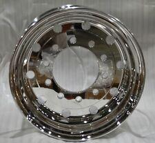 "Commercial Truck Trailer 22.5 X 14 Aluminum SuperSingle Wheel Polished 2"" Offset"