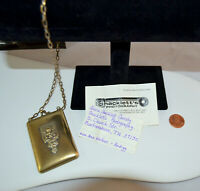 Antique Calling Business Card Wristlet Case with Provenance & Cards