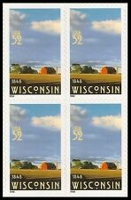 US 3206 Statehood Wisconsin 32c block (4 stamps) MNH 1998