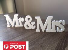 Mr And Mrs Sign Wooden Wedding Prop Decoration Table