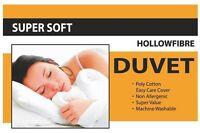 ANTI ALLERGY HYPOALLERGENIC DUVET/QUILT 15.0 TOG BEDROOM, VALUE BUNDLE ALL SIZES