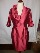 PADDY CAMPBELL PURE SILK     MOTHER OF THE BRIDE  DRESS  SUIT  SIZE UK 16