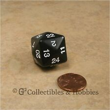 NEW Black D24 Polyhedral RPG D&D Dice 24 Sided Koplow