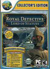 ROYAL DETECTIVE LORD OF STATUES Hidden Object PC Game DVD-ROM NEW + Bonus