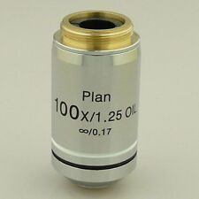100X (OIL) INFINITY PLAN ACHROMATIC MICROSCOPE OBJECTIVE INFINITE SPRING LENS