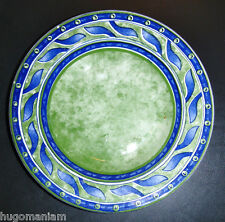 Pier 1 One Italy Versailles Pasta Bowl Green Blue Leaves Scrolls Dinnerware