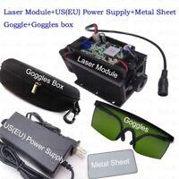 450nm 15W Blue Laser Module With Heatsink For Laser Cutter Engraver+metal sheet