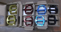 Haro Fusion DX style Pedals blue black red gold 9/16