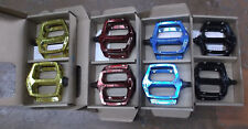 Haro Fusion DX style Pedals blue black red gold White Silver 9/16