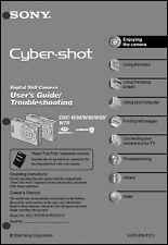 Sony DSC-W30 W4 W50 & W70 Cyber-Shot Operating Guide Instruction Manual