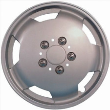 "Fiat Ducato high roof van 15"" Pouce wheeltrims Silver Deep Dish Hub Caps Trim x4"