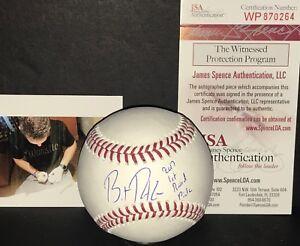 Brent Rooker Twins Miss State Signed Baseball JSA WITNESS COA 2017 1st Rd Pick 1