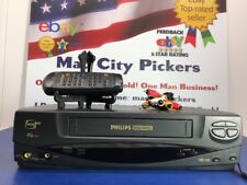 Philips Magnavox VRX342AT01 VHS VCR Player Recorder w/ Remote N9031UD Tested 💯