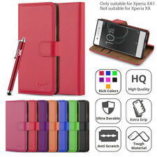 For Sony Xperia XA1 Case Luxury Flip Leather Stand Experia Wallet Phone Cover