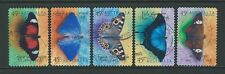AUSTRALIA 1998 MARIPOSAS AUTOADHESIVO JUEGO DE 5 BIEN UTILIZADO