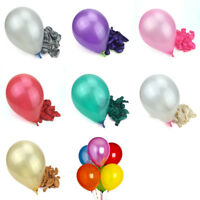 100PCS Pearl Latex Balloons - Range of 7 COLOURS , 8 SIZES (Party Decorations)