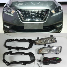 Spot Bumper Light Fog Lamp Assembly for Nissan Kicks 2017 2018 with Wires Switch