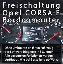 Freischaltung des Bordcomputer OPEL Corsa E - Boardcomputer Aktivierung