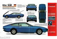 BITTER CD SPEC SHEET / Brochure / Pamphlet / Catalog: 1974,1975,1976,........