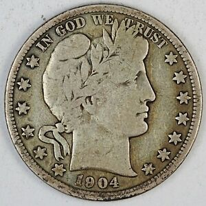 1904-S United States Barber Half Dollar - VG Very Good Condition