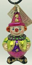 Old World Christmas Glass Ornament Carnival Clown 24034 Retired Circus