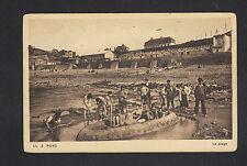 PUYS (76) JEUX de PLAGE , ENFANTS en gros plan animé période 1930