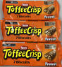 3x Nestle Toffee Crisp Biscuits 7 Pack 130.9g (7x18.7g)