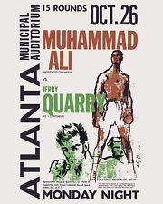 Ali - Quarry Fight Poster (Oct. 1970 Atlanta) - 8x10 Color Photo