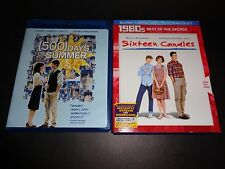 500 DAYS OF SUMMER & SIXTEEN CANDLES-2 Blu-Ray movies-ZOOEY DESCHENAL,M RINGWALD