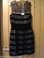 Jack Wills Tanyard Black Velvet Devour Ladies Dress Size 8 NEW (tags) RRP £98.50