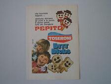 advertising Pubblicità 1973 GELATI TOSERONI PEPITO