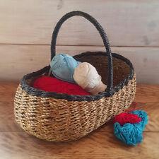 """Marple"" seagrass mini shopping basket"