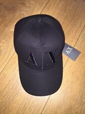 Armani Exchange Cap Black , AX Baseball Cap Black, Black Baseball Cap.