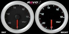 REVO Voltage Volt 8-18V Gauge Meter 52mm WHITE LED