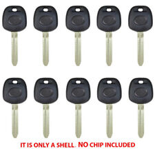 New Transponder Key Shell Case Fit For Toyota Uncut Blade Tr47 (10 Pack)