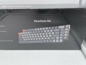 New Keychron K6 Bluetooth Wireless Mechanical Keyboard Gateron Brown Switch RGB
