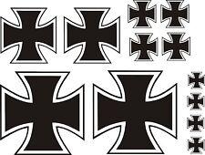 12 x Eisernes Kreuz Aufkleber Sticker IRON CROSS Kreutz  Auto Tuning TOP KULT .