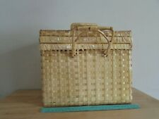 Vintage Connie Stevens Forever Spring Picnic Basket Wicker in Original Box