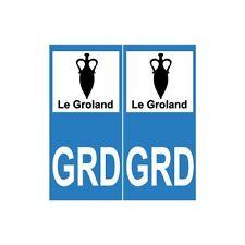 GRD Groland sticker autocollant plaque droits