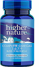 Higher Nature Complete Omegas 3:6:7:9 180 Capsules