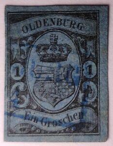 German States Oldenburg SUPERB 1859 1gr. €60 .Michel 6a. Dealer marked
