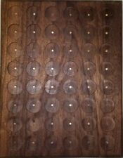 WALNUT PATHTAG GEOCOIN DISPLAY - HOLDS 48 TAGS - UNIQUE & MADE IN USA
