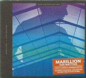 MARILLION  -  SIZE MATTERS.   /   NUMBERED LTD LIVE DIGIPAK EDITON.  2453/5000