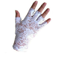 Women Nice Amazing Goth Party Sexy Dressy Lace Gloves Mittens Fingerless Style