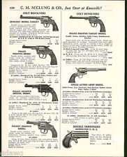 1921 ADVERT Colt Army Revolver Police Positive Remington Double Derringer