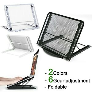 Mesh Tablet Laptop Pad Riser Stand Holder Folding Table Portable Tray