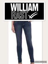 WILLIAM RAST WOMENS SIZE 4 SLIM LEG MID RISE DENIM DARK BLUE JEANS