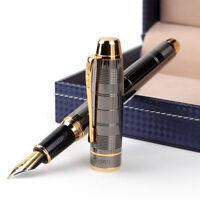 2019 Hero 1078EP Classic Metal China Fountain Pen Push Fine Nib 0.5mm Box Gift