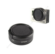 37mm UV Lens Filter + Protective Cap + Lens Ring Adapter for GoPro Hero 3 3+ 4