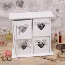 Jewelley Box with 4 Drawers Gem Heart White New England Mini Chest of Draws